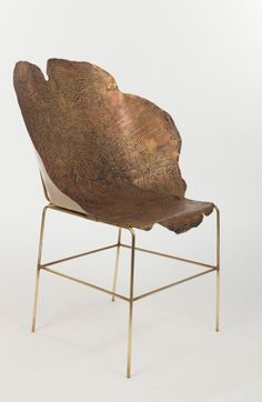 'Stumps' by sharon sides. Etched metal chair.