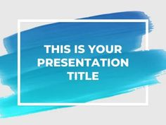 Use this original free template and inspire people to be creative with your presentation. It shows a framed brush stroke that adapts to any color! Template Powerpoint Gratis, Powerpoint Design Templates, Professional Powerpoint Templates, Powerpoint Themes, Powerpoint Template Free, Presentation Templates, Infographic Powerpoint, Booklet Design, Presentation Folder