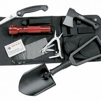 Gerber Off Road Survival Kit.  This would be a good set to keep in the truck.