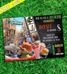 Zootopia Invitation  Zootopia  Zootopia Party  by PartyKulio