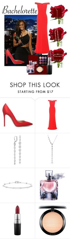"""""""Rachel in Rouge"""" by vickiitz ❤ liked on Polyvore featuring Gianvito Rossi, Alexander McQueen, Blue Nile, Anne Sisteron, Lancôme and MAC Cosmetics"""