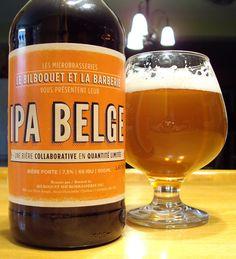 IPA Belge - Les Microbrasseries Le Bilboquet et La Barberie via craftbeerquebec.ca