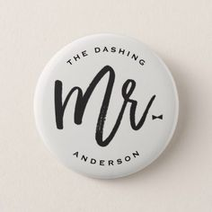 Mr Brush Bow Tie Chic Wedding Bridal Party Button - calligraphy gifts custom personalize diy create your own Bow Tie Wedding, Chic Wedding, Trendy Wedding, Gifts For Wedding Party, Bridal Gifts, Party Gifts, Team Groom, Groom And Groomsmen, Bachelor Party Invitations