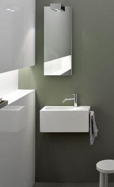 Miroir salle de bain Alain,  posé de manière asymetric