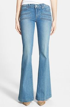 Paige+Denim+'Fionna'+Flare+Jeans+(Paulina+No+Whiskers)+available+at+#Nordstrom