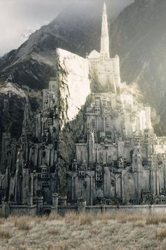 Day Gondor or Rohan. I'm going with Gondor because the city of Minas Tirith is so visually stunning. Although, I do love that Rohan has the Rohirrim 'cause they're awesome. Minas Tirith, Tolkien, Fantasy Places, Sci Fi Fantasy, Castle Tattoo, O Hobbit, Into The West, White City, Matte Painting