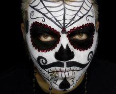 sugar skull makeup men