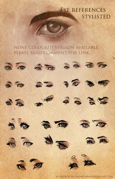 Stylized Eye References by *sakimichan on deviantART