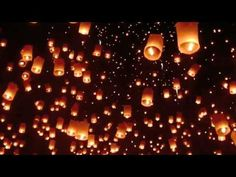 Places he wants to go. - The Yi Peng Flying Lights Festival in Thailand.