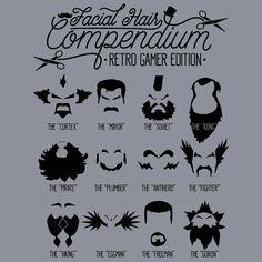 The Gamer Facial Hair Compendium Women's Basic T-Shirt | The T-Shirt Vault