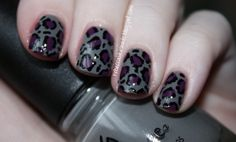 China Glaze Recycle, Dotted with Sally Hansen Trouble Maker and a black pen nail art marker.
