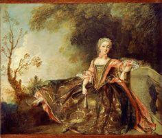 ab. 1735 Nicolas Lancret - Portrait of a Dancer (Mademoiselle Marie Sallé)