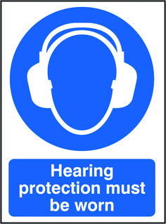 Hearing protection must be worn sign.  Beaverswood - Identification Solutions