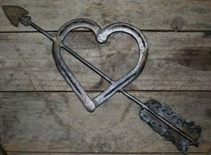 Horseshoe Heart Horseshoe heart with arrow.