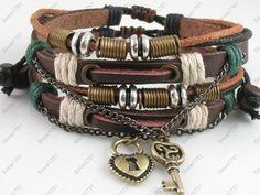 Lot 2 Adjustable Tribal Hemp Leather Beads Bracelet Men Women Love Jewelry | eBay