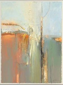 """Stillness-Abstract by Joan Fullerton Mixed Media ~ 38"""" x 30"""""""