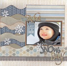 Such a fun layout by Lanette Erickson using the Kiwi Lane Abbie Road Mini Borders.
