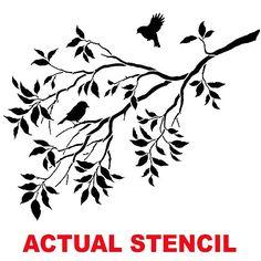 Cutting Edge Stencils - Birds on a Branch Wall Stencil. $39.95. See more Branch Stencils: http://www.cuttingedgestencils.com