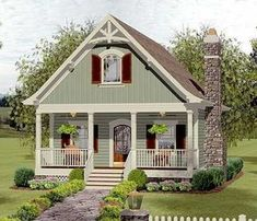 Cozy Cottage With Bedroom Loft - 20115GA | Cottage, Country, Vacation, Narrow Lot, 2nd Floor Master Suite, CAD Available, Loft, PDF | Architectural Designs