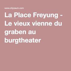 La Place Freyung - Le vieux vienne du graben au burgtheater