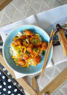 Cheat's Mango Chicken - Easy Midweek Meals - The Cardiff Cwtch Mango Chicken, Sweet N Sour Chicken, Welsh Recipes, Great Recipes, Midweek Meals, Easy Meals, Frozen Chicken Nuggets, Chinese Takeaway, Pub Food