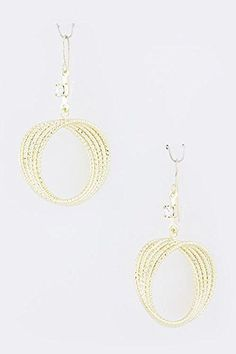 KARMAS CANVAS TWISTED ROUND BEAD EARRINGS Gold * Click on the image for additional details. Note:It is Affiliate Link to Amazon.