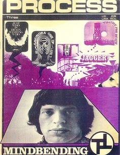 Mick Jagger on the cover of the magazine of the CIA-connected Satanic cult The Process Church.