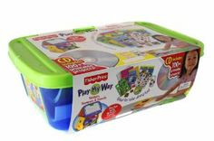 Play My Way Stickers, Stampers & Stencils by Fisher-Price by Fisher-Price. $19.99. Use bin with activity center or on its own! Ages 3+ years.. Includes CD with more than 100 printable projects!. Complete the enclosed craft project!. Creative supplies for hours of fun!. Bin includes: 16 crayons, 5 sticker sheets, 3 stencils, 3 stampers, rubber plate, ink pad, 12 pieces of construction paper, 30 page coloring book.. Play My Way Stickers, Stampers & Stencils by Fisher-P...
