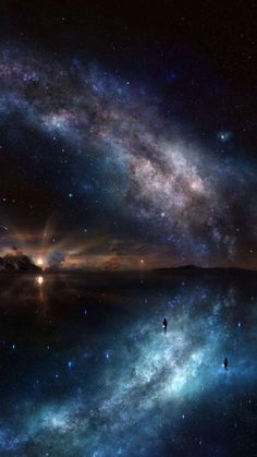 The art of animation Anime Scenery, Animes Wallpapers, Galaxy Wallpaper, Milky Way, Beautiful World, Amazing Art, Fantasy Art, Fantasy Landscape, Outer Space