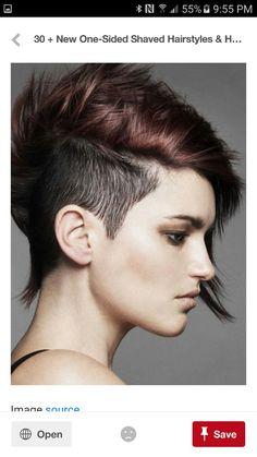 Frisuren kurz rosa
