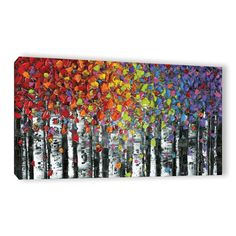 Birch trees landscape abstract wall art aspen birch print modern home decor birch canvas art, small large x-large susana shap