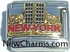 Football ball silvertone Italian charm fits 9mm classic Italian Charm bracelet