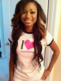 Long sew in hairstyles are some beautiful and elegant hairstyles. Sew In Hairstyles, 2015 Hairstyles, Pretty Hairstyles, Black Hairstyles, Baddie Hairstyles, School Hairstyles, Elegant Hairstyles, African Hairstyles, Relaxed Hair