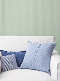 Buttoned-Up Pillows from Shirts...easy and cool