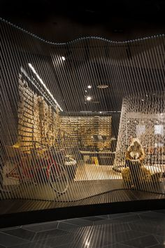This shop uses rope to define space throughout the store