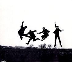 Dezo Hoffmann's famous jump picture, taken at the Allerton Golf Course in Liverpool, 25 March 1963.