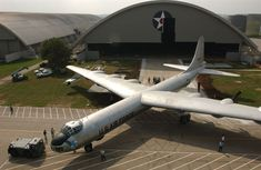 The Convair B-36J Peacemaker aircraft move from building one to building three in October, 2002 at the National Museum of the U.S. Air Force. (U.S. Air Force photo)