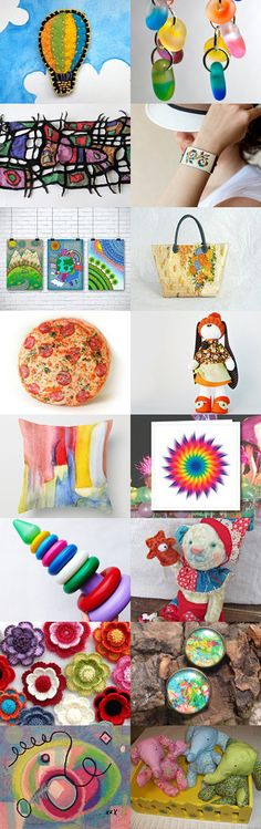 Colorful IV in treasury from Jelena DizArtEx on Etsy--Pinned with TreasuryPin.com #colors #colorful #colourful #decor #doll