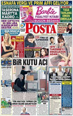 #20160227 #TürkiyeHABER Bugünkü gazeteler (27.02.2016) Saturday FEB 27 2016 #POSTAgazetesi http://en.kiosko.net/tr/2016-02-27/np/posta_gazetesi.html