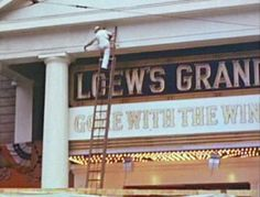 Preparing Atlanta's Loew's Grand Theater for the December 15, 1939 premiere of Gone With the Wind.