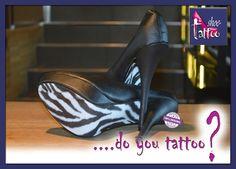 "the shoe-tattoo ""zebra"" 2 Piece Homecoming Dresses, 2 Piece Prom Dress, Shoe Tattoos, Mermaid Shirt, Black Mermaid, Plus Size Party Dresses, Mermaid Evening Dresses, Bridal Wedding Dresses, Pumps"