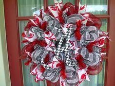 Alabama Crimson Tide Deco Mesh Door Wreath by Crazyboutdeco, $69.00