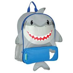 Monogram Kids Backpack/Personalized Stephen Joseph Cute Shark back pack by sewsassybootique on Etsy