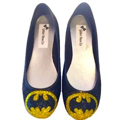 Sparkly Superhero Ballet Flats!  10 OFF with CODE  SPARKLE10 www. glittershoeco.com. Glitter Shoe Co 3f8cd6c3a15f