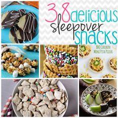 38 Delicious Sleepover Snack Recipes!