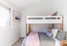 Welcome to Eliza Lee One, a fully contained and recently renovated three bedroom apartment for up to seven guests located in the heart of Jindabyne. Boutique Interior, A Boutique, Bedroom Apartment, Bedroom Decor, Integrated Fridge, Stone Bench, Holiday Accommodation, Nsw Holidays, School Holidays