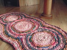 Rose Triple Disc Crocheted Rag Rug , I have been making rag rugs for years but this year I hope to make one for the grans that don't yet have one.   I have 23 grans and seems more are on the way. It will give them a little something  homemade to remember me by. #PinyourResolution