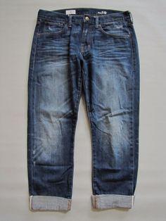 GAP 1969 Original Fit Jeans 30 10 Worn Selvage Distressed Medium Denim boyfriend #GAP #Boyfriend