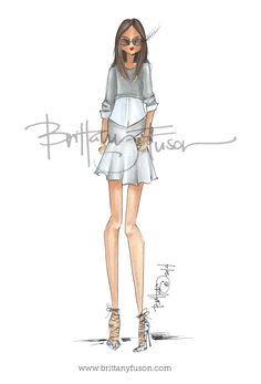 Brittany Fuson: Trend: Skirts & Sweaters| Be Inspirational❥|Mz. Manerz: Being well dressed is a beautiful form of confidence, happiness & politeness