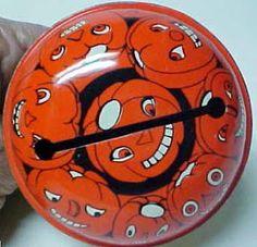 Pumpkin noisemaker.
